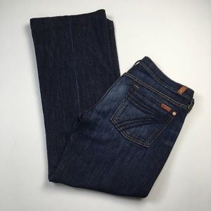 7 For All Mankind DOJO Flare Dark Jean Size 32